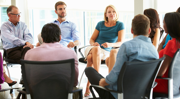 psychotherapy and group About group psychotherapy group psychotherapy is a special form of therapy in which a small number of people meet together under the guidance of a professionally trained therapist to help themselves and one another.